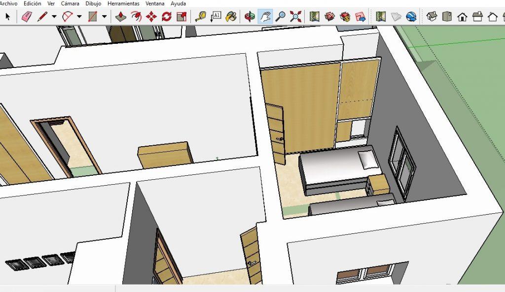 Ejemplo de renderizado en disitantas en 3D